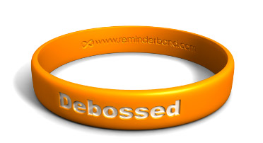 Debossed Silicone Wristband with White Color-Fill