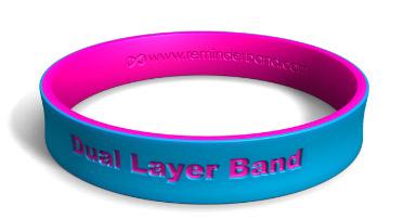 Dual-Layer Silicone Wristband