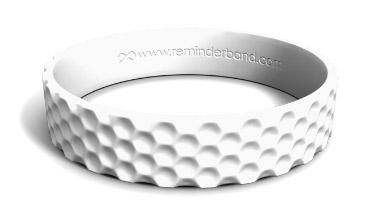 Golf Textured Silicone Wristband