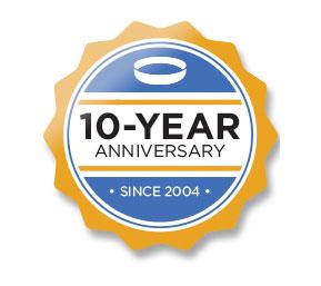 Ten-Year Anniversary. Since 2004.