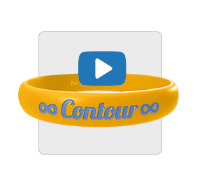 Contour Wristband with Play Button