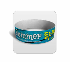 Summer Splash Tyvek Wristband